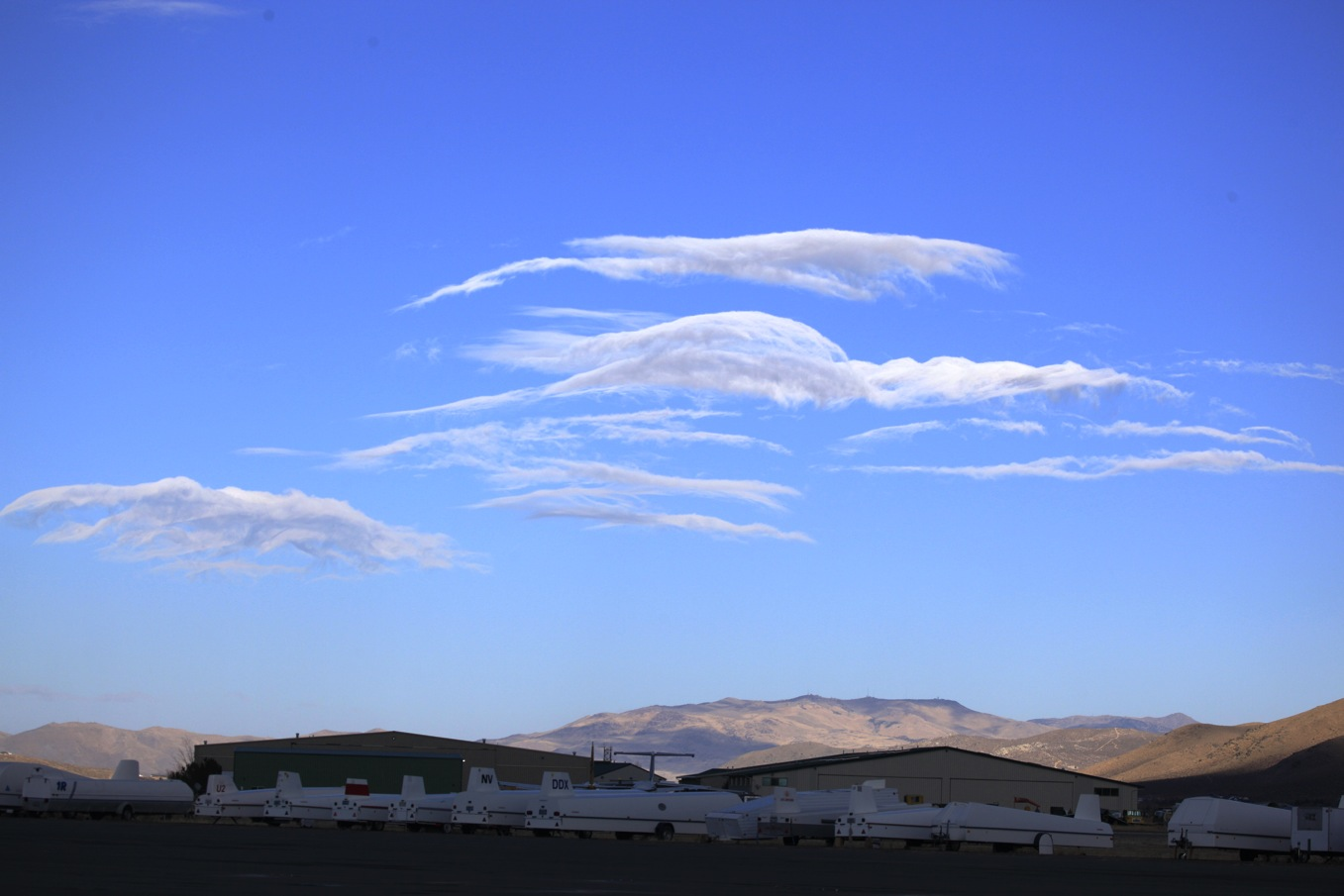 lenticular clouds near Minden, NV
